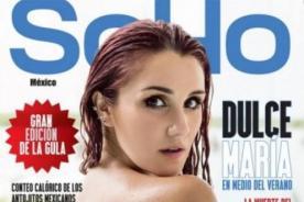 Dulce María posó en topless para sesión de fotos hot de SoHo