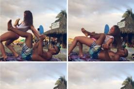 Ximena Hoyos fue 'trolleada' en Facebook por estas fotos con su novio