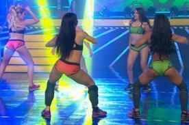 Combate: ¡Las combatientes elevaron la temperatura con el 'baile del toto'! - VIDEO