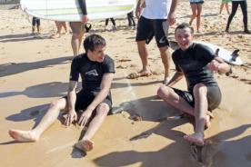 Liam Payne y Louis Tomlinson corrieron olas en Sídney