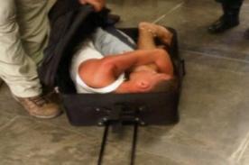 Insólito: Intentó escapar de prisión escondido en una maleta
