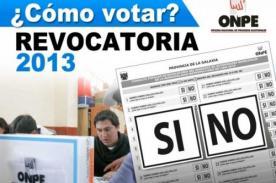 Revocatoria 2013: Habrá otra elección si se revoca a más de 13 regidores