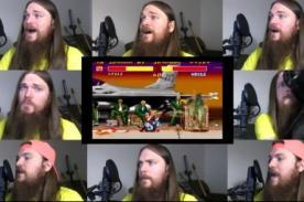 Video: Sujeto canta a capela Guile del videojuego Street Fighters