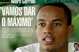 André Carrillo en portada de Sporting de Lisboa