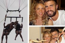 Shakira y Gerard Piqué muy románticos en sus vacaciones - Fotos