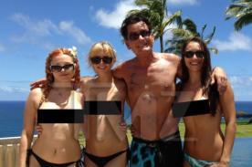 Charlie Sheen disfrutó sus vacaciones con actrices porno - Fotos