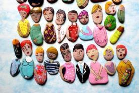 Creatividad: Convierte piedras comunes en bellas obras de arte