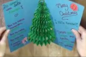 Crea una Tarjeta de Navidad 'Pop Up' con forma de árbol