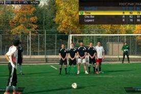 Así sería un partido de FIFA 14 en la vida real [VIDEO]