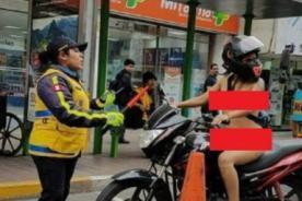 Identifican a mujer que paseó sin ropa en Miraflores - VIDEO