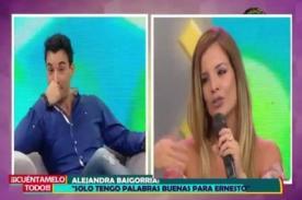 Alejandra Baigorria defiende todo su amor por Ernesto Jiménez de la mejor manera