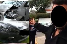 Conductor de televisión protagoniza terrible accidente - FOTO