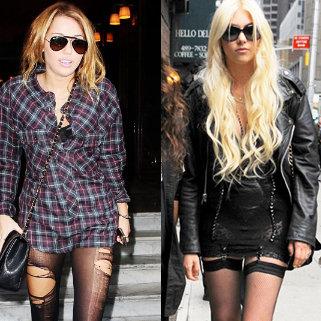 Miley Cyrus estaría imitando el estilo de Taylor Momsen con atrevido atuendo