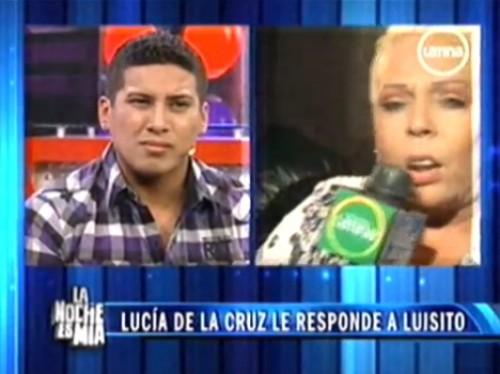Video: Lucía de la Cruz y Luisito tuvieron fuerte discusión en TV