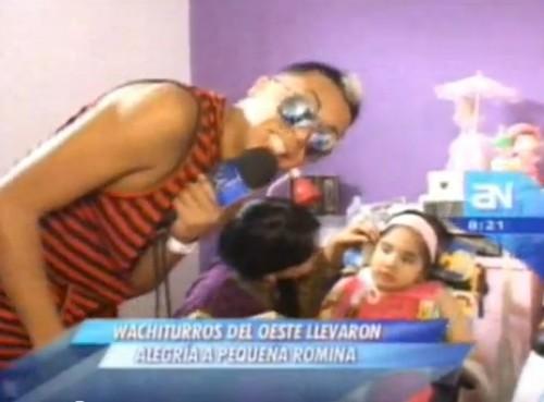 Video: Los Wachiturros del Oeste visitaron a la pequeña Romina