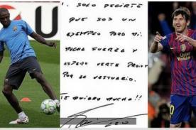Barcelona: Messi, Nadal y Zidane le escriben libro a Eric Abidal