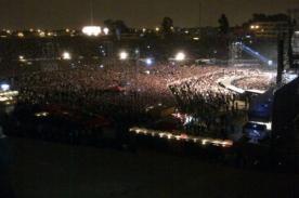 Concierto de Gianmarco tiene casi 60 mil personas