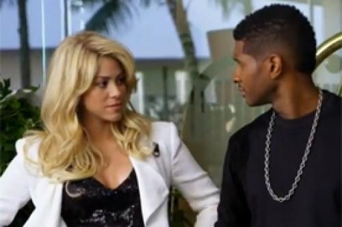 Shakira y Usher protagonizan cómico video promocional de The Voice