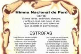 Símbolos patrios: Himno nacional del Perú - Letra completa - Fiestas Patrias