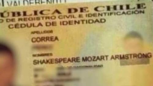 Chile: Shakespeare Mozart Armstrong es blanco de burlas en Facebook