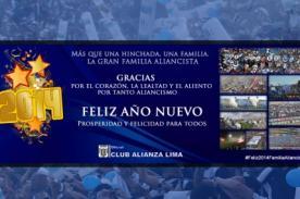 Alianza Lima, Universitario y Sporting Cristal envían saludos por Año Nuevo