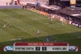 Alianza Lima y Sporting Cristal empatan 2-2 en el Estadio Nacional