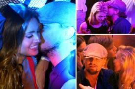 Leonardo DiCaprio coqueteando con sexys señorita en Cannes