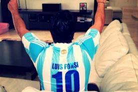 Luis Fonsi: Así alienta el cantante a Argentina en Instagram [Foto]