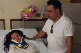 Chibolín comparte alarmante foto de Josetty Hurtado tras accidente - FOTO