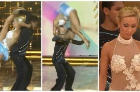 El Gran Show: A Belén Estévez se le sale el hombro en vivo y pasa esto