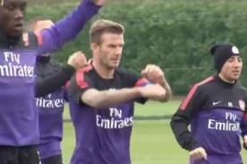 Video: David Beckham entrena con el Arsenal - Premier League