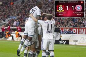 Bundesliga: Bayern Munich empató 1-1 ante Bayer Leverkusen