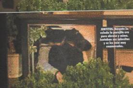 Karen Schwarz y Ezio Olivia son ampayados besándose - Fotos