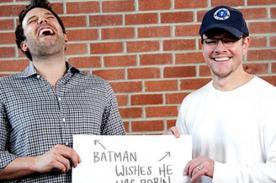 Ben Affleck y Matt Damon festejaron el día de San Valentín con broma