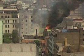 Centro de Lima: Bomberos logran controlar incendio en Jr Lampa - VIDEO