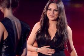 Fotos: Mila Kunis ocultó su embarazo en los MTV Movie Awards 2014