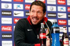 Diego Simeone: ´Jugaremos ante el mejor equipo del mundo´