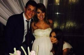 Natalie Vértiz feliz por el nacimiento de Gia, hija de Gino Pesaressi