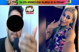 Rafael Cardozo asegura que Julieta Rodríguez aprendió a ser racista en el Perú - VIDEO