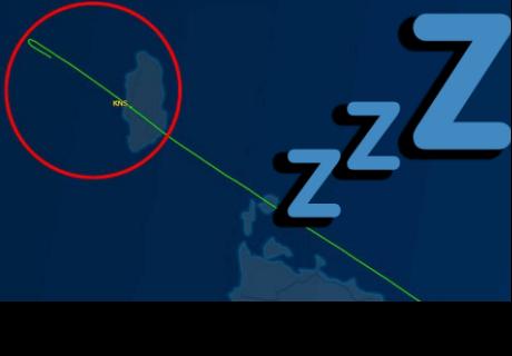 Piloto se queda dormido y se pasa 50 kilómetros el aeropuerto de llegada