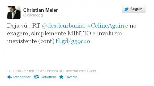 Christian Meier tuvo Déjà Vu en Twitter