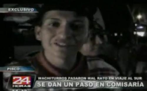 Video: Wachiturros viajaban en un bus que contenía droga