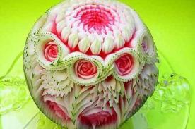 Creatividad en frutas: Esculturas y bellos diseños en sandías