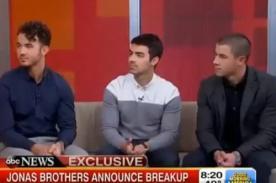 Jonas Brothers: Hay más oportunidades como solistas que como banda - Video