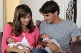 Roger Federer se convirtió en papá de mellizos...¡Otra vez!