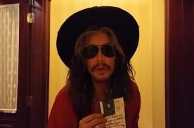Steven Tyler le dejó una carta a Miley Cyrus en su hotel [Video]