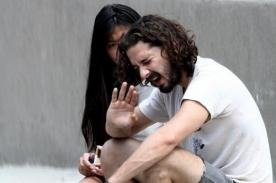 Shia LaBeouf y su novia discuten en público hasta llorar