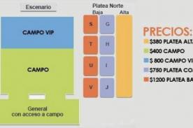 One Direction en Argentina: Precios de entradas y zonas del concierto