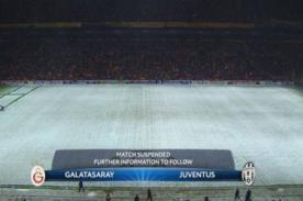 Champions League: Suspenden partido entre Galatasaray y Juventus
