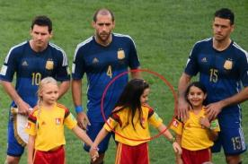 Argentina: Niña peruana acompañó a selección en final del Mundial 2014
